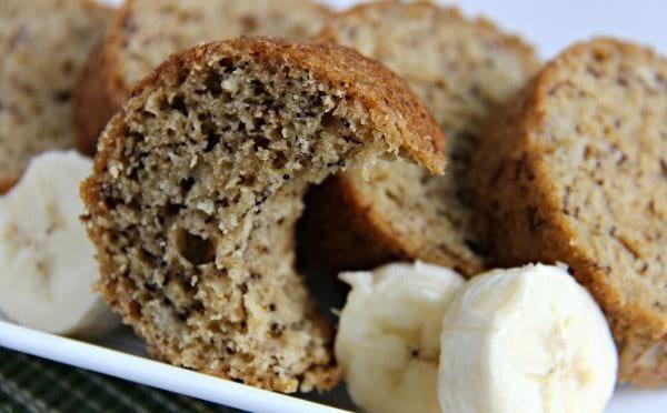 Le gâteau est à la banane est tendre et moelleux : MIAM !