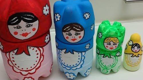 déco poupee russe bouteilles plastique