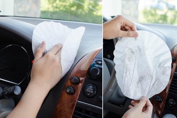 Utilisez un filtre à café pour nettoyer l'intérieur de votre voiture