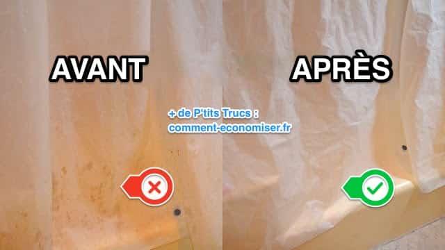 comment bien nettoyer un rideau de douche