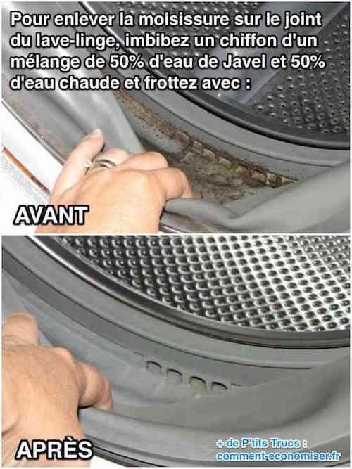 Comment nettoyer les joints de la machine à laver