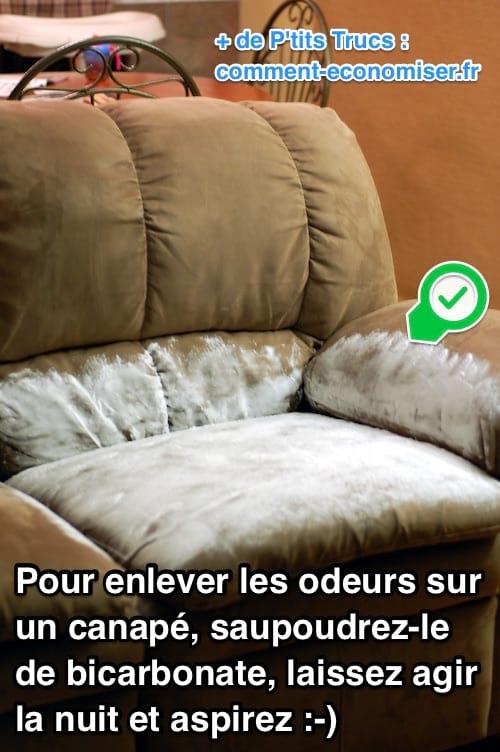odeurs sur le canap comment les enlever facilement avec. Black Bedroom Furniture Sets. Home Design Ideas