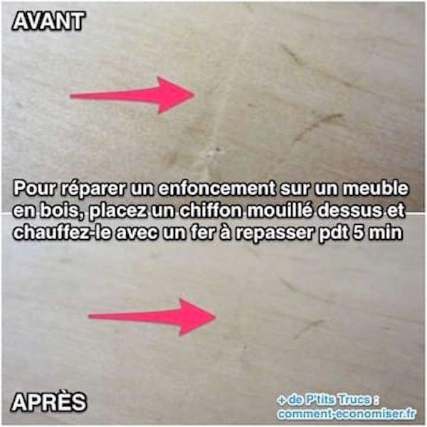 Meme technique pour réparer un meuble en bois