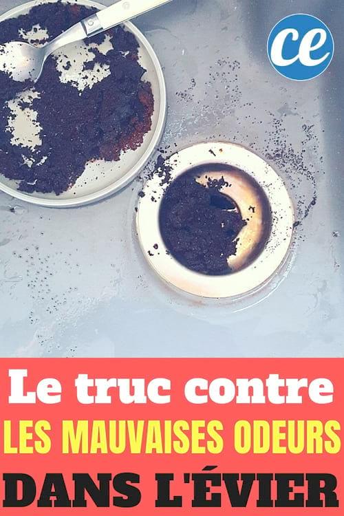 Comment enlever les mauvaises odeurs de l'évier avec du marc de café
