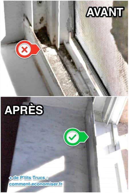 nettoyer les rails des fenêtres