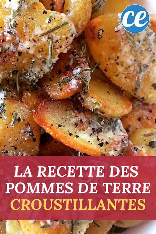 La recette facile et pas chère des pommes de terre sautée à l'ail et au romarin.
