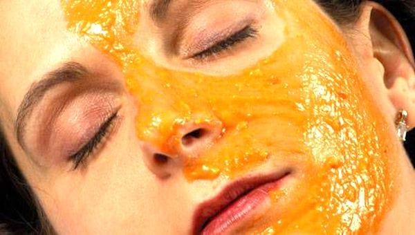 masque facial au jus d'orange