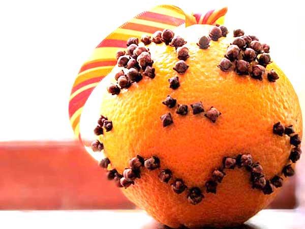 déo avec orange et clou de girofle