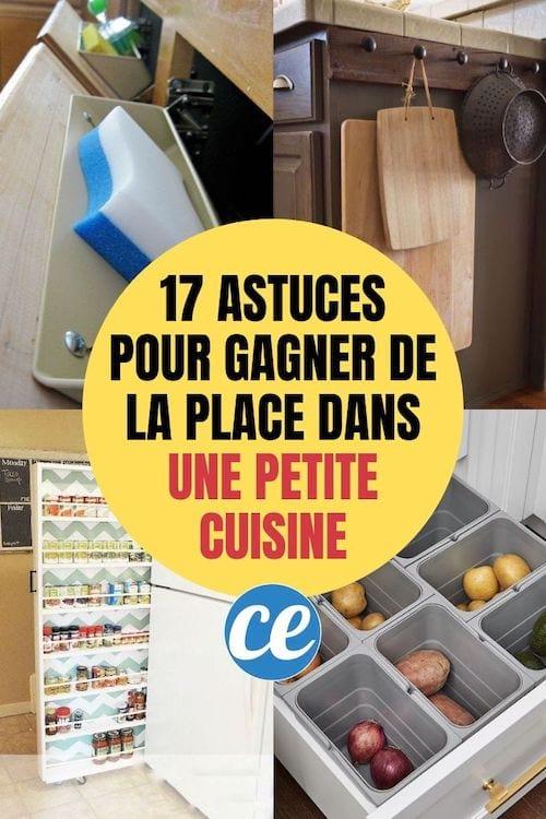 17 Astuces De Genie Pour Gagner De La Place Dans Une Petite Cuisine
