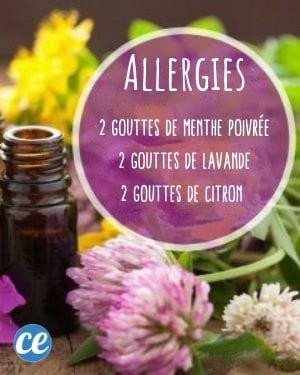 mélange huiles essentielles contre les allergies