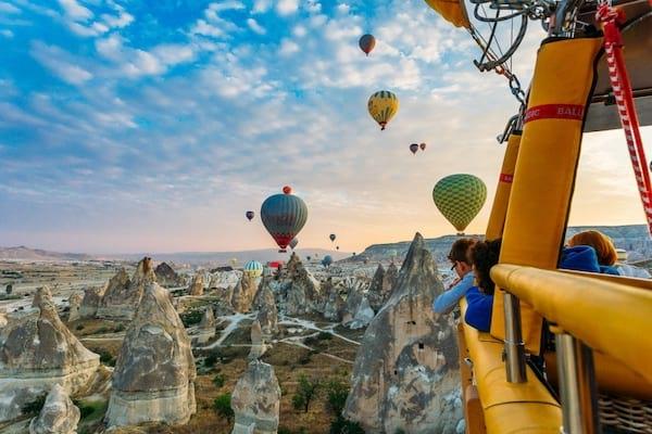 Faire un voyage en montgolfière à Cappadoce en Turquie