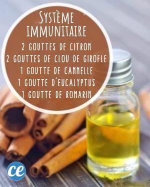 mélange d'huiles essentielles pour se soigner et stimuler le système immunitaire