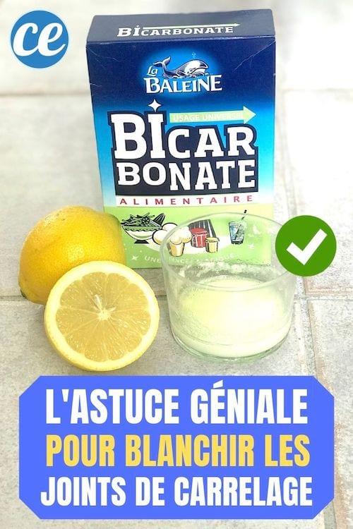 Joints De Carrelage Noircis Comment Les Blanchir Avec Du Bicarbonate Citron