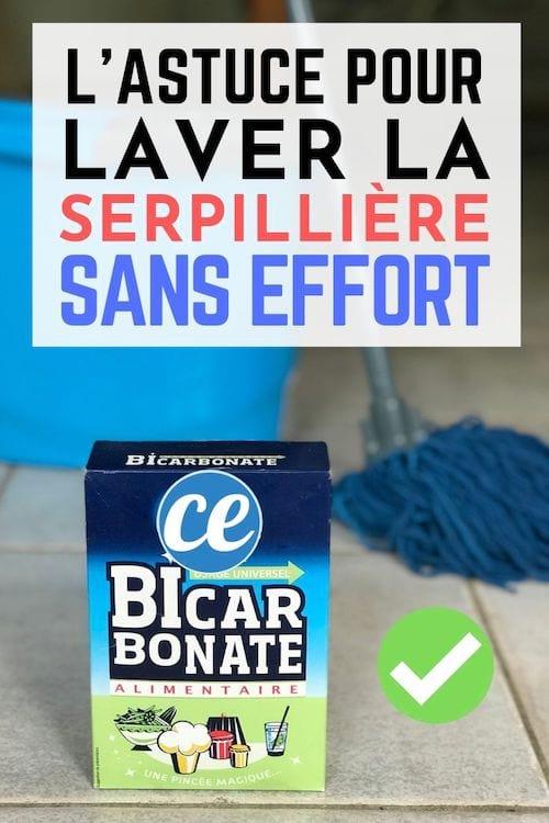 L'astuce pour laver une serpillière sale avec du bicarbonate