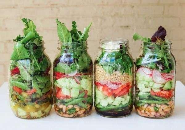 Conservez la salade dans un bocal en verre