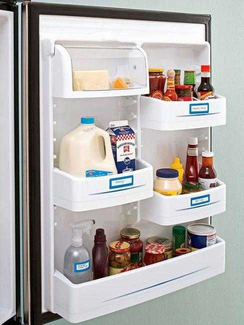 Etiqueter les portes du frigo pour ranger mieux