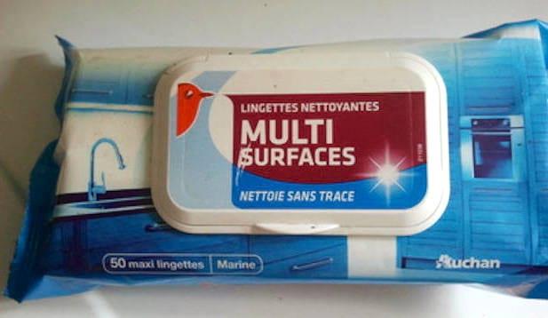 Lingettes nettoyantes multi-surfaces sans trace