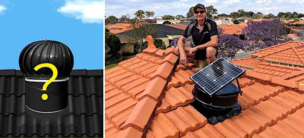 Les extracteurs d'air solaires peuvent vous aider à expulser l'air chaud qui s'accumulent sous les combles.