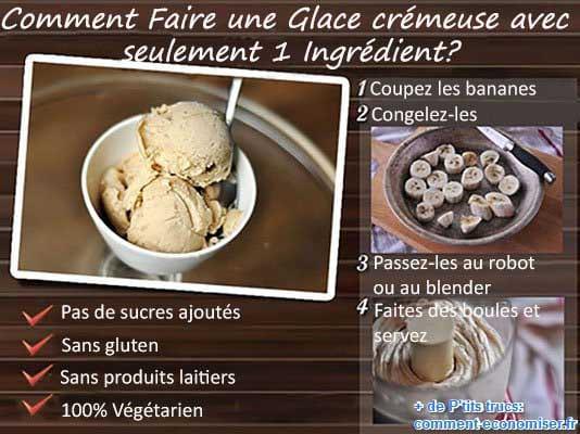 faire une glace avec un seul ingrédient