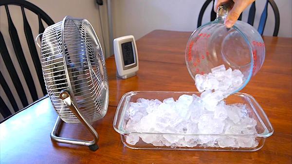 Il fait trop chaud ? Faites un climatiseur maison avec un ventilateur et des glaçons.