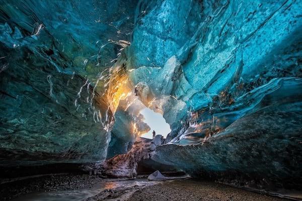 grottes de glace du Parc National de Vatnajökull en Islande