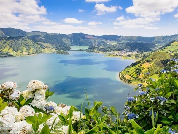 Magnifique paysage dans les îles des Açores au portugal