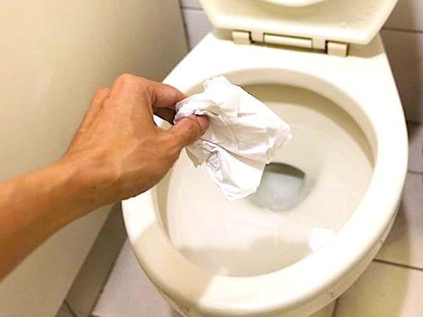 Vous n'aimez pas faire trop de bruit aux toilettes ? Jetez à l'avance quelques feuilles de papier WC dans la cuvette.