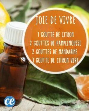 mélange huiles essentielles pour la bonne humeur