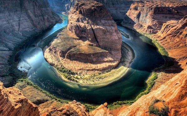 """Coude de la rivière Arizona nommé """"Horseshoe"""""""
