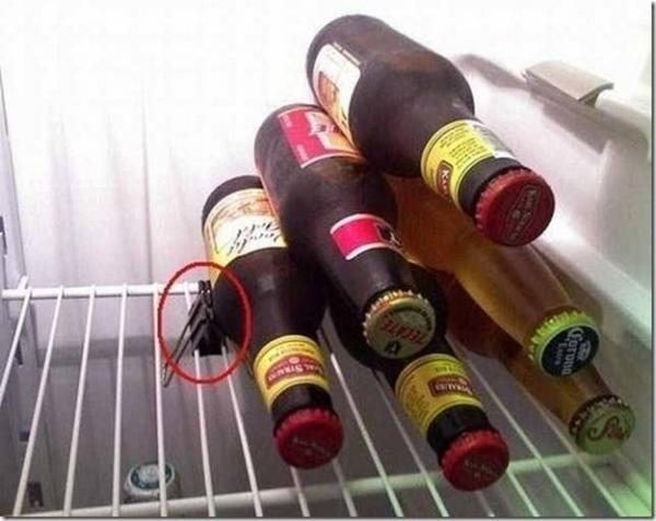 Ranger bouteilles de bière frigo facilement