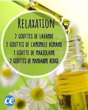 Mélange huiles essentielles pour se relaxer