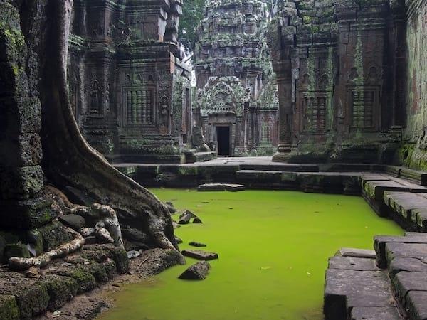 Les ruines des temples d'Angkor au Cambodge