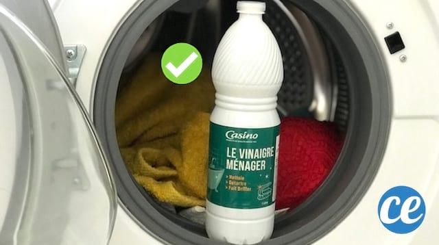 Utilisez du vinaigre blanc comme assouplissant pour le linge