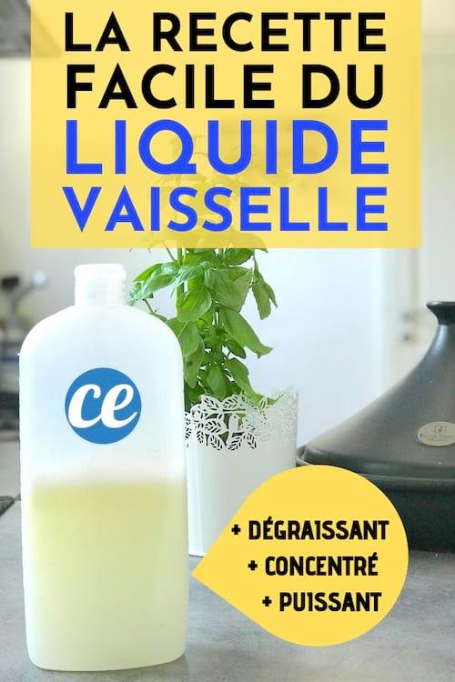 la recette facile du liquide vaisselle fait maison détergent et ultra dégraissant