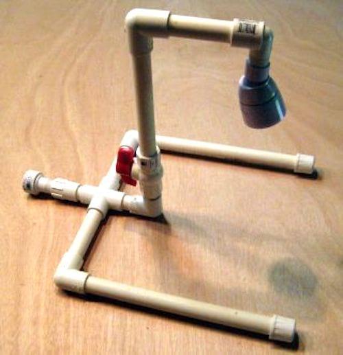 robinet lave-pieds diy tuyau PVC