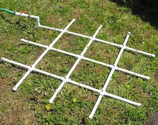 grille d'arrosage amovible tuyau PVC