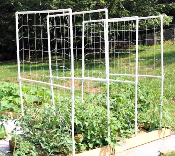 treillis jardin tuyau PVC