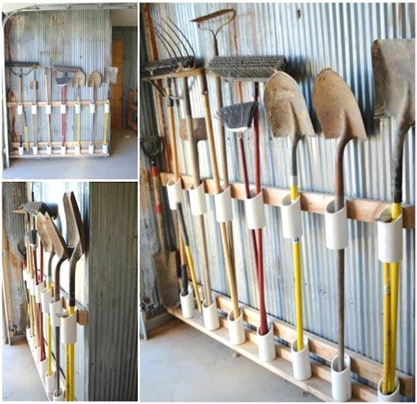 porte-outils-facile à faire tuyau PVC