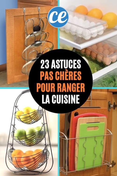 23 Astuces Pas Chères Pour Avoir Une Cuisine Toujours Bien Rangée.