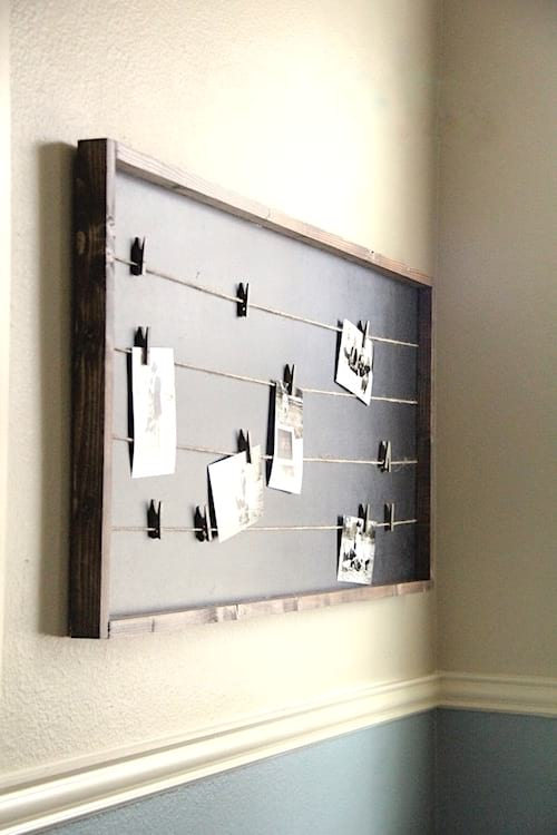 cadre photo originale avec tableau noir
