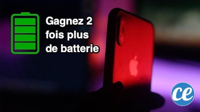 La meilleure astuce pour économiser de la batterie sur iPhone X