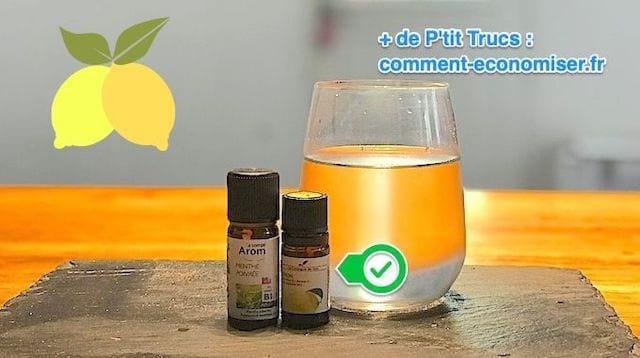 Eau aromatisée aux huiles essentielles faciles et rapide à faire