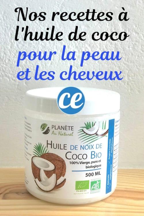 Les recettes des soins faits maison à l'huile de coco pour la peau et les cheveux