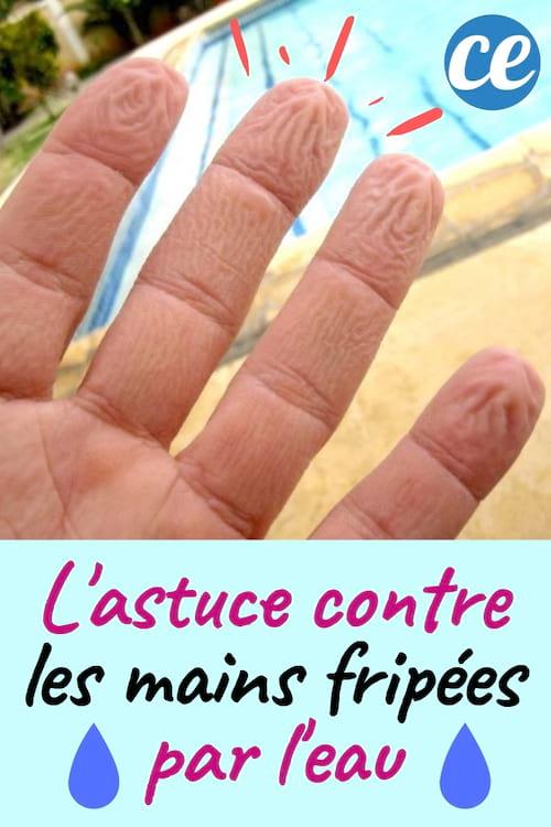 Utilisez du jus de citron contre les mains fripées par l'eau