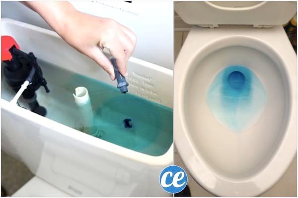 comment détecter une fuite d'eau avec du colorant, chasse d'eau
