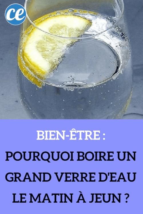 boire de l'eau chaque matin à jeun
