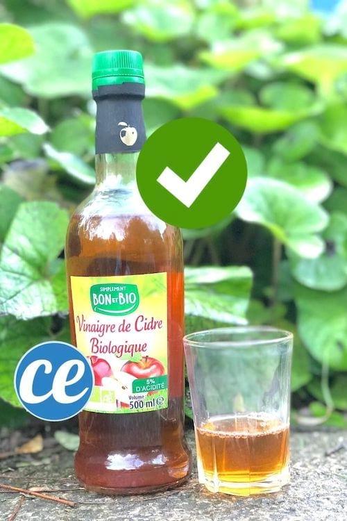 Un verre de vinaigre de cidre pour soigner une mycose