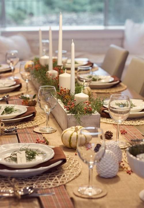 Citrouille blanche sur table