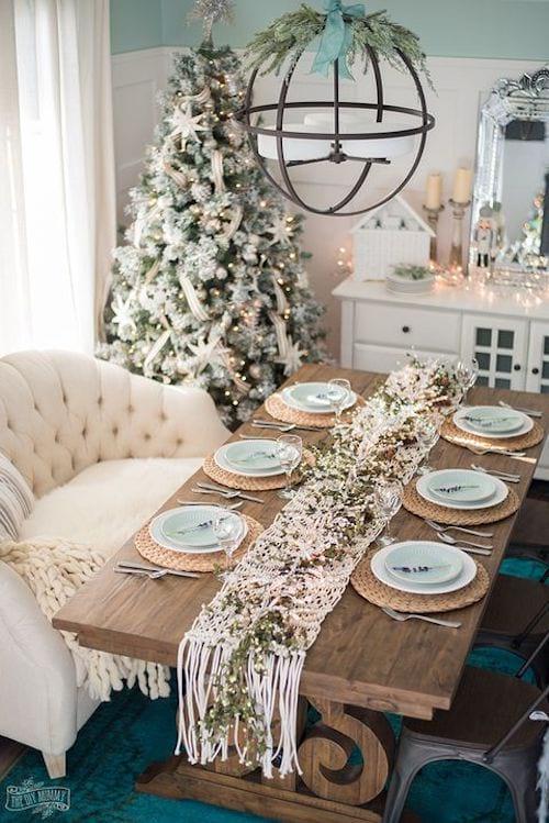 Table décorée entièrement pour noel