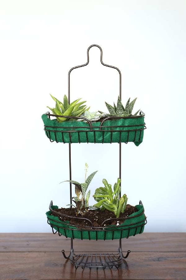 accrocher plantes support douche